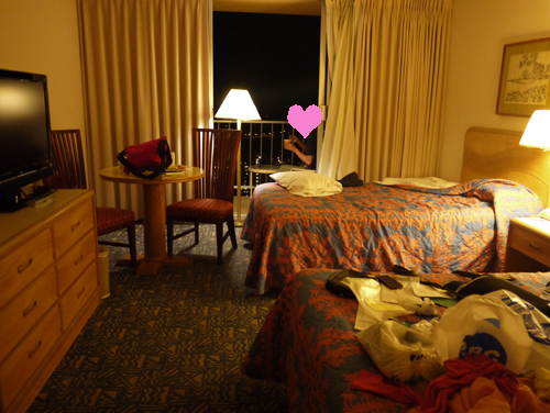 Pacific Beach hotel room