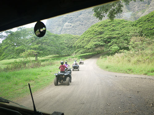 Kualoa Ranch ATV Scenery