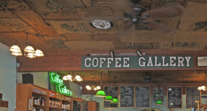Coffee Gallery ceiling